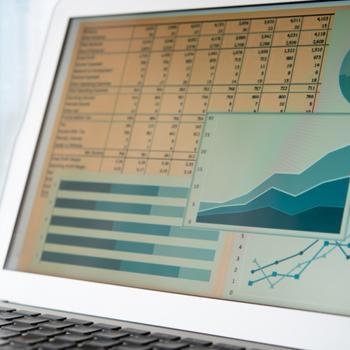 monitor programem księgowym